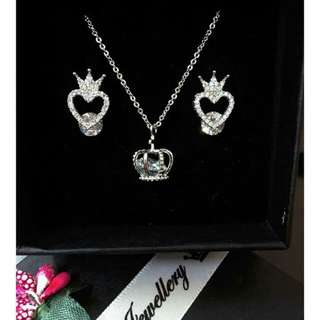 Crown sets necklace &earings