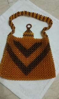 Handbag, fully beaded by hand