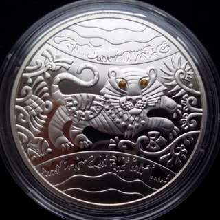 "烏克蘭5 UAH""虎年""銀幣,2010年Ukraine 5 UAH ""Year of the Tiger"" Silver Coin ,2010 year"