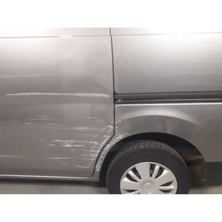 Nissan NV200 Side Door Damage Repair And Paint Restoration