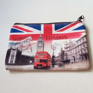 Pouch with London landmarks design