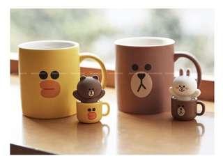 🚚 Line friends 兔兔熊大杯子造型USB隨身碟 cony mug usb