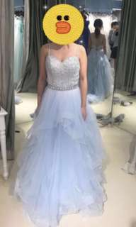 Evening gown baby blue 婚紗晚裝