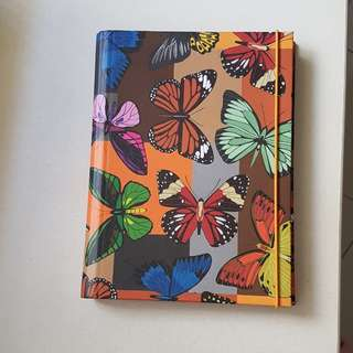 Journal note book with colourful butterfly design