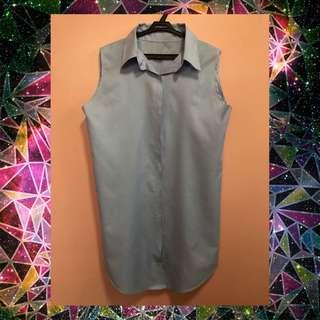 Soft denim sleeveless dress