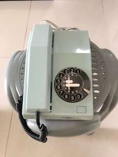 Brand New Old Stock - Mint Condition Singtel Telecom Rotary Telephone - RARE BABY BLUE ((RAREST AMONG ALL COLOURS))
