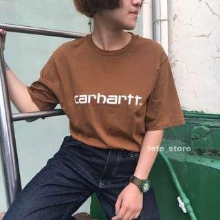🚚 fefe代購/現貨♡ Carhartt WIP 2018 S/S Script T-Shirt 卡其 大地色