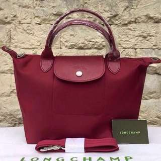 Longchamp Le Pliage Neo small size maroon 1512 sling