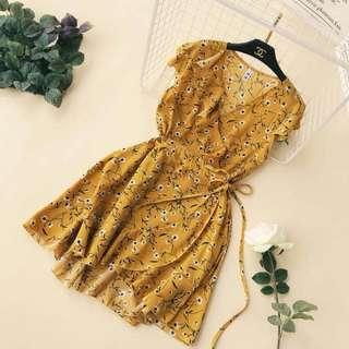Floral Summer Tie Up Dress