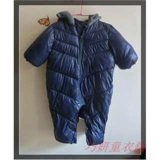 二手深藍鋪棉厚連身衣 3M