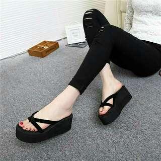 P.O wedge slippers