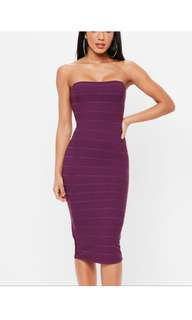 Purple Bodycon Party Dress Size 10