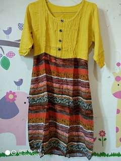 Dress batik #bersih-bersih