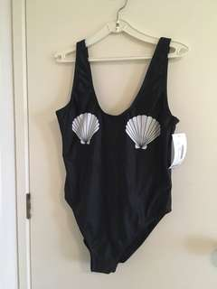 Black Sea Shell One Piece Swimsuit