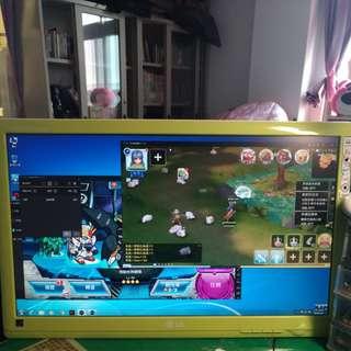 LG 22吋螢幕少有蘋果綠顏色