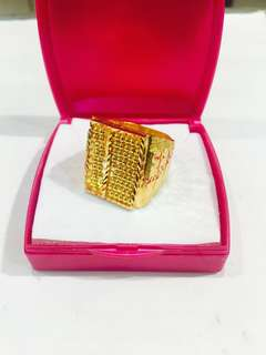 916 Gold Abacus Ring