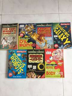 Assorted Horrible Science books
