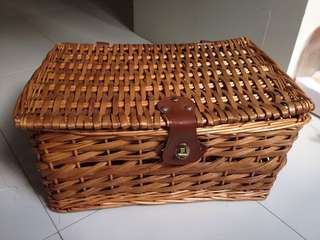 cute pinterest rattan basket with cover