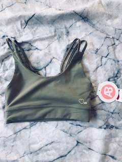 Khaki love ashy sports bra