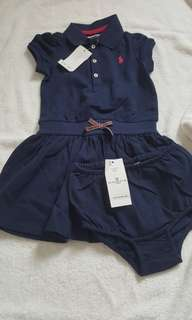 New with tag Ralph Lauren Dress and bloomer