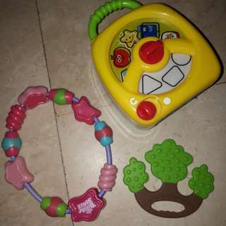Baby branded toy wd music plus teethers