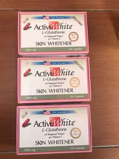 Active White L-glutathione with Grapeseed Extract plus Vit. C