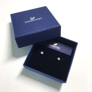Swarovski Attract Pearl Pierced Earrings (White, Rhodium Plating)