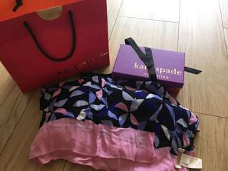 Kate Spade - Oblong long scarf - Pink Purple