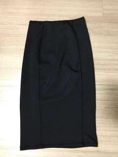 Black midi Pencil Skirt Zara