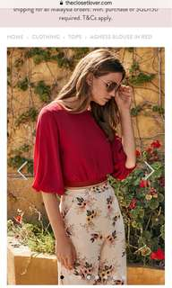 TCL agness blouse in red
