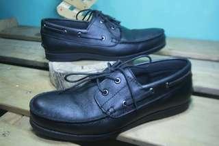 Sepatu Kulit Asli, No Label Model Mirip Sperry / Size 40 / No Box
