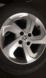 Used rim Honda city with tires