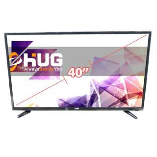 "40"" Inch LED Flat Screen TV Full HD - HUG LT40 Black"