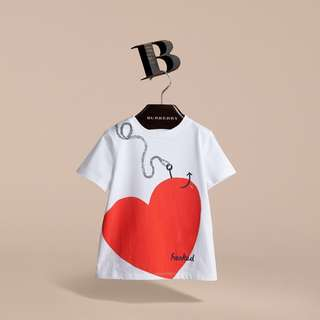 🚚 Burberry愛心圖案T恤