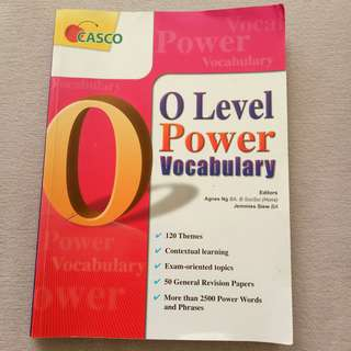 Book: O Level Power Vocabulary