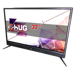 "32"" Inch LED Flat Screen TV Full HD - HUG LT32 Black"