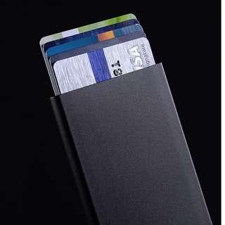 [型格! 專業整齊好印象]一按即彈自動彈出卡片套 (黑色/玫瑰金)  Slim Credit Card Holder / wallet / protector (Black / Rose Gold) 生日禮物手袋包包整理保持整潔
