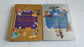Two-book Set: Disney's Read-To-Me Treasury Volumes 1 and 2