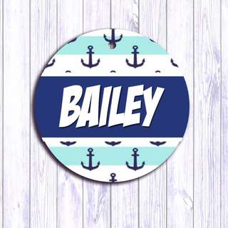 Nautical Sea pet tag , Pet ID , Dog , Cat , Handmade Customized , Personalized, Name , Clothing , Accessories , Pet Collars , Kids , Children , Key chain , keychain Dog tag , Cat tag
