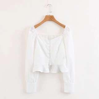 🔥Europe and US Wild Lotus Leaf Embroidery Long Sleeve Retro Shirt Jacket