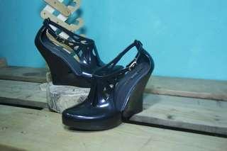Sandal Melissa Salto Alto Wedges / Black / Size 35 / Original Made in Brazil / Second / No Box