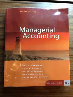 Managerial Accounting Asia Global Edition 2e