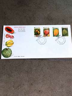 Singapore Local Fruits special stamp issue