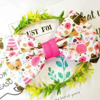 Pink tribal Handmade , Dog Cat Bowties Bow tie , Clothing , Accessories , Pet Collars , Bandana, harness