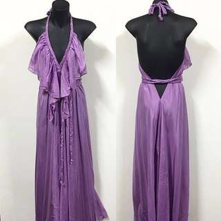 LISA BROWN Maxi Dress - Lilac - One Size Fits All