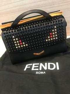 Preloved Fendi Demi Jour embellished leather bag
