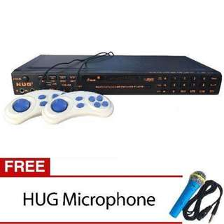 DVD Player with built in Karaoke MIDI w/ Games, Radio & USB port (MP3, Movies & Jpeg) FREE MIC - HUG H68-812