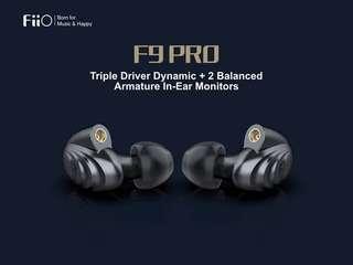 100%全新Fiio F9 Pro最新款三單元可換線MMCX有線耳機