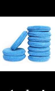 Blue Round Soft Microfibre Wax/Polishing Applicator