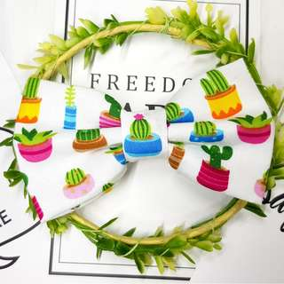 Cactus Plant Handmade , Dog Cat Bowties Bow tie , Clothing , Accessories , Pet Collars , Bandana, harness